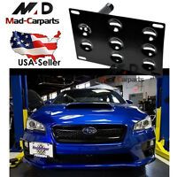 Bumper Tow Hook License Plate Mounting Holder For Subura WRX STi Scion FR-S