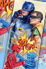 ORIGINAL POP ART BATMAN: KAPOW!  PORTRAIT BY ARTIST RON DUNN