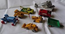 LOTTO DI 8 MACCHINE CAMION METALLO MATCHBOX MADE IN ENGLAND BY LESNEY BP VERDE R