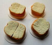 DOLLS HOUSE MINIATURE FOOD 1:12 * HAM SANDWICHES FOR FOUR * COMBINED P+P