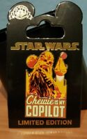 Disney Parks Pin 2018 Solo A Star Wars Story Chewbacca is my copilot falcon LE