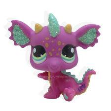 #2663 LPS Littlest Pet Shop SPARKLE PINK GREEN DRAGON Rare Toy