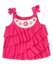 NWT Gymboree Girls Floral Mermaid Pink Tiered Ruffle Tank Size 3T