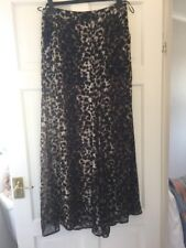 Miss Selfridge Sheer Chiffon Trousers Flares Beach Palazzo 10 Shorts Leopard