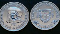 PORTUGAL / 20 ESCUDOS - D. HENRIQUE / 1960 / SILVER COIN
