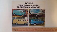 1973 Dodge Tradesman Vans/Wagons - Color Catalog - Very Good Condition (Cdn)