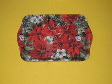 Ambiente 1x Tablett Weihnachtsblumen rot 13 x 21 trays Weihnachten Poinsettia