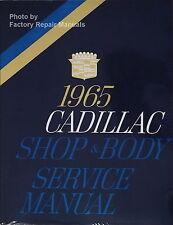 1965 Cadillac Calais DeVille Eldorado Fleetwood Shop & Body Service Manual Repri