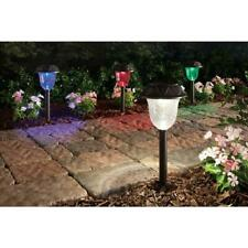 Hampton Bay 4 Pack Solar LED Color Changing Path Lights Landscape Outdoor Way