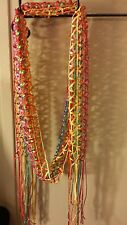 Long Pink Orange Blue Green Yellow Summer Spring Frindges Scarf Ships Today