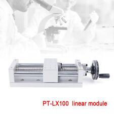 Pt Lx100 Cnc Manual Xyz 130mmaxis Sliding Table 16mmlinear Rail Stage Ball Screw