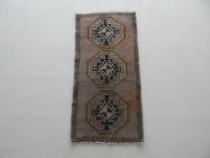 1'5'' x 2'11'' Turkish Konya Hand Knotted 100% Wool Caucasian Style Oriental Rug