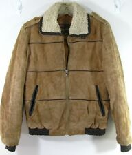 Mens 38 small Royal Knight light brown Suede rough Coat