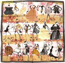 CHRISTIAN LACROIX beige & gray HISTORY IN HAUTE COUTURE silk scarf NWT Authentic