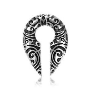 PAIR 00G 10MM WHITE BRASS KEY HOLE DROP EAR WEIGHTS PLUGS TUNNELS STRETCH GAUGE