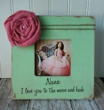 I love you to the moon and back picture frame grandmother gift Nana gift Mimi