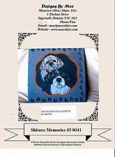 Art Adult Painting Book Designs By Moe Dog Chien Shiatsu  French Instruction