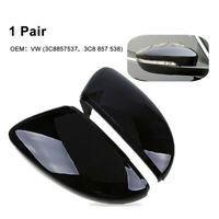 2x Rear View Door Wing Mirror Cover For VW Beetle CC Eos Passat Jetta Scirocco