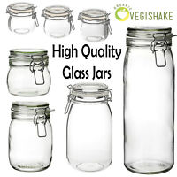 Korken Mason Jar High Quality with Lid Clear Glass Food Storage with Rubber Seal