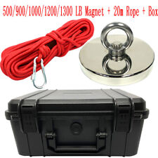 Fishing Magnet Kit Upto 5001300 Lbs Pull Force Strong Neodymium Rope Case