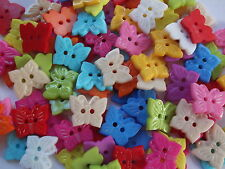 30 x BUTTERFLY 2 HOLE RESIN-19MMX15MM SEWING BUTTONS, SCRAPBOOKING, CRAFT ETC.,