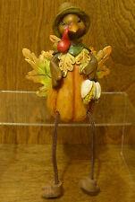 "Shelf Sitter #J4359A HARVEST TURKEY w/ Corn, 8.5"" Transpac From Retail Store"