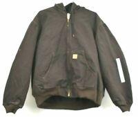 Vintage NOS Carhartt Mens Sandstone Jacket Quilted Lining Dark Brown 2XL J130DKB