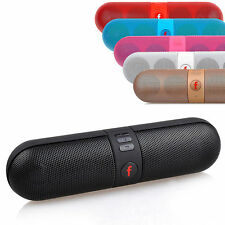 Mini Wireless Bluetooth Portable Music Stereo Speakers TF Card Loudspeaker Black