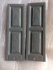 "1:12 scale 16 Pair  32 pcs  Raised panel plastic dollhouse shutters Gray  4-3/4"""