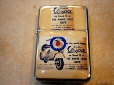 VESPA STAR FLIP LIGHTER MOTOR SCOOTER VINTAGE ITALY PIAGGIO & EXTRA ZIPPO FLINTS