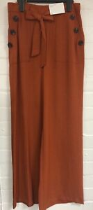 Ex Matalan Ladies Wide Leg Elasticated Pull on Trousers Size 8 - 18 (W11.3)