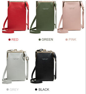 Girls PU Leather Mobile Phone Bag Case Pouch Cross Body Purse Small Shoulder Bag
