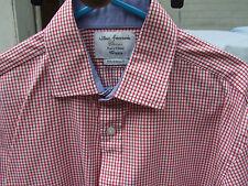Fabulous T M Lewin Long Sleeve Red Check Dress Shirt 39 15+1/2