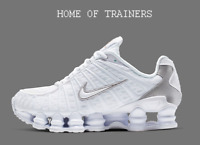 Nike Shox TL White-White Silver White Men's Trainers All Sizes
