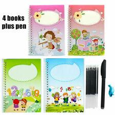 Practice Handwriting 4 x For Preschool Magic Education Copybook + Pens Copybook