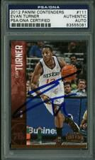 76Ers Evan Turner Authentic Signed Card 2012 Panini Contenders #111 PSA Slabbed