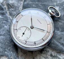 ✩ Vintage MOLNIJA ☭ USSR 50s old pocket watch 15 Jewels