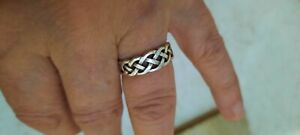 925 sterling silver ring size L Celtic style petite and dainty stamped 925