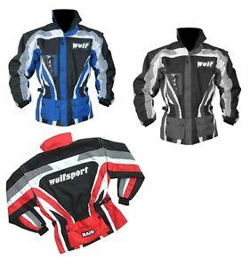 Wulfsport Adult Trial Raid Jacket Motocross MX Leisure Quad Coat Small-3XL
