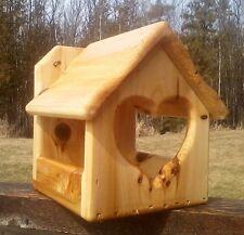 Decoratve heart, cedar wood, Dove or Robin nesting shelf, The Birds Nest #3