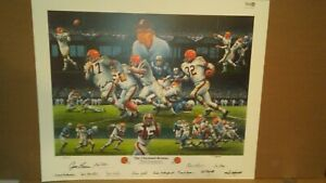Cleveland Browns 1964 NFL CHAMPIONSHIP PLAYOFF WIN SIGNED JIM BROWN CLOSE OUT.