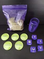 Cranium Pop 5 Board Game Scoring Tokens cup letter dice Replacement parts