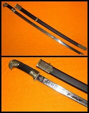 "37"" Russian Cossack Eagle Head Military Shashka Sabre Sword Metal Scabbard"