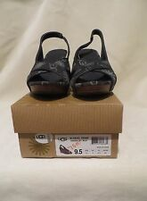 NIB UGG W Hazel Denim Wedge Strappy Sandal Size 9.5