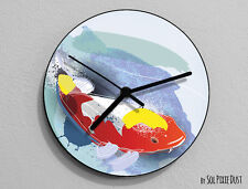 Colorful Koi Wall Clock