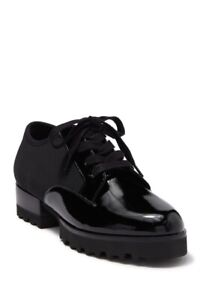 Donald Pliner NEW Elee Black Patent Leather Crepe Oxford Shoes 6
