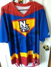 New Hampshire Fisher Cats Game Worn Super Hero night Autographed Jersey Xl...
