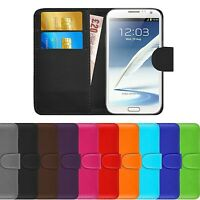 Premium Luxury Leather Flip Wallet Book Case Cover For Samsung Galaxy Note 2