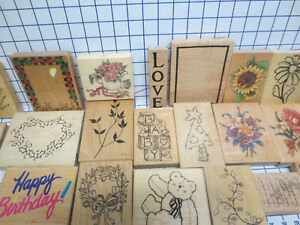 22 large size wm rubber stamps- Stampendous Embossing Arts JRL Rubber Stampede &