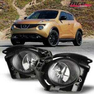 For 2015-2017 Nissan Juke PAIR OE Factory Fit Fog Light Bumper Kit Clear Lens